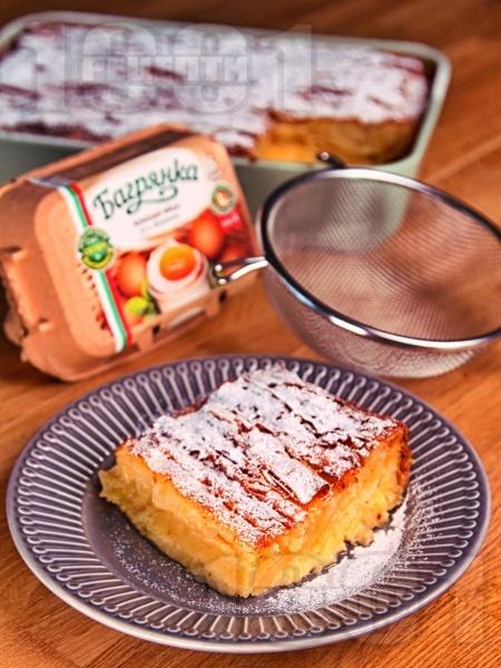 Бугаца (Bougatsa) - традиционна гръцка сладка баница с крем от яйца, захар и прясно мляко (с бакпулвер) - снимка на рецептата